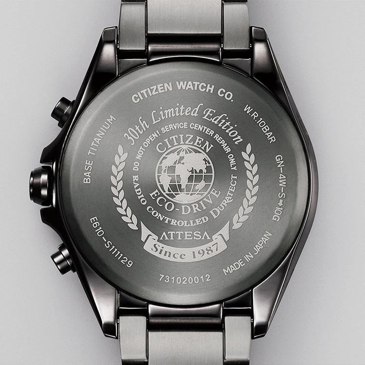 5年保证居民西铁城atessa电波钟表环保·开车兜风限定手表AT3055-57L