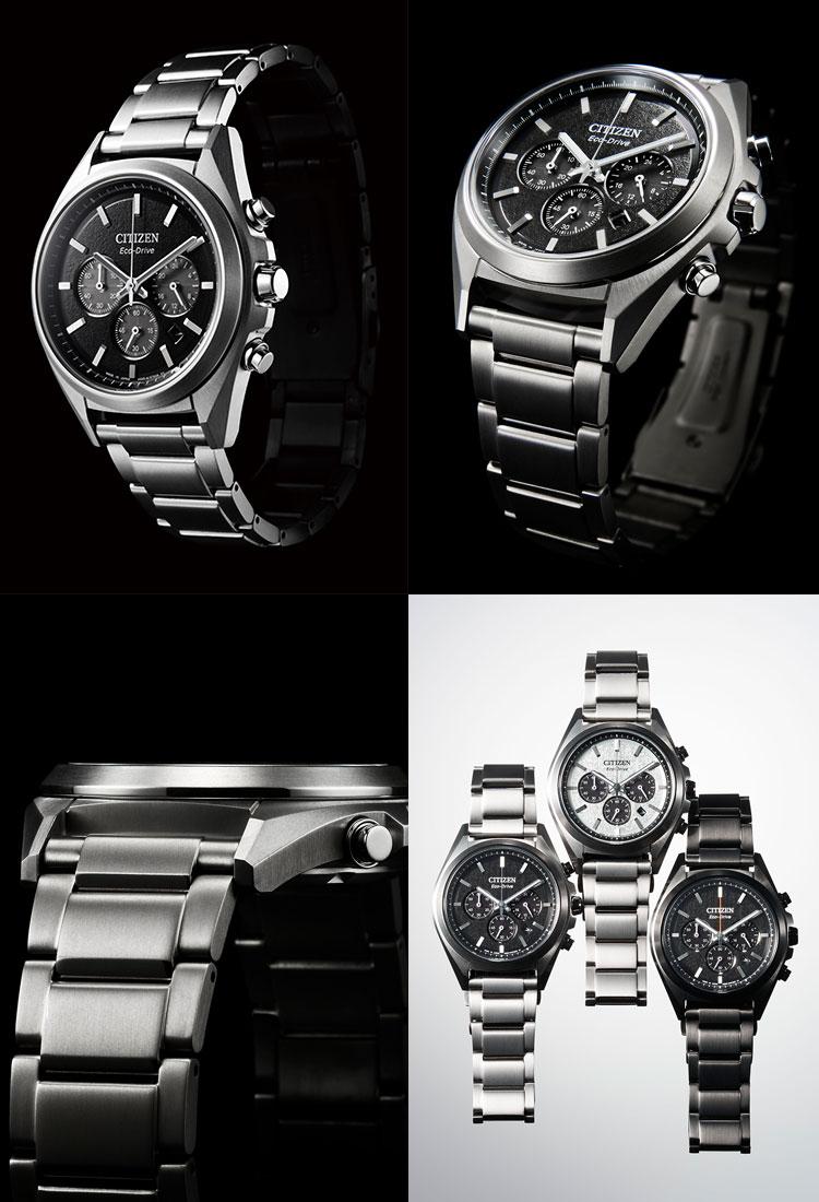 アテッサ ATTESA CA4390-55E シチズン CITIZEN エコドライブ チタニウム クロノグラフ 黒 ブラック 腕時計 メンズ