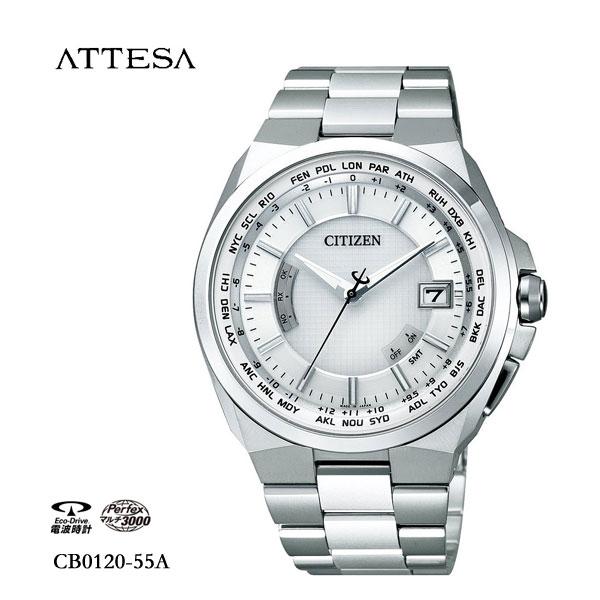 シチズン CITIZEN アテッサ ATTESA エコ・ドライブ電波時計 CB0120-55A 腕時計 メンズ