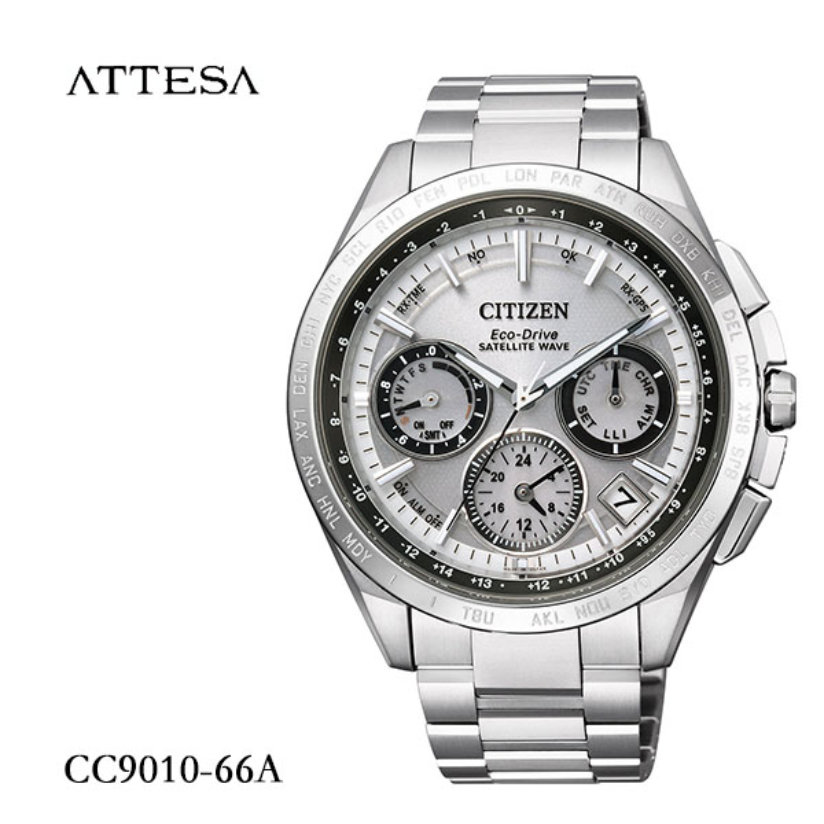 シチズン CITIZEN アテッサ ATTESA エコ・ドライブ GPS衛星電波時計 CC9010-66A腕時計 メンズ