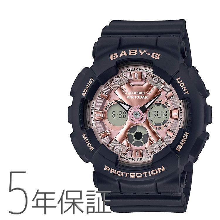 Baby-G ベビーG BA-130-1A4JF カシオ CASIO アナログ 黒 ブラック ピンク 腕時計 レディース