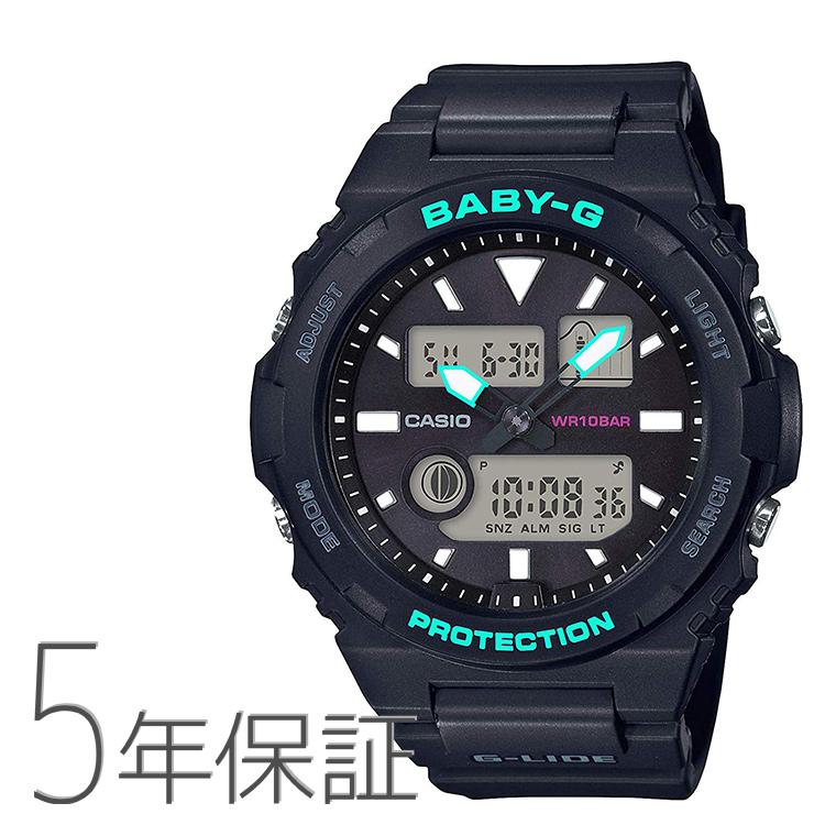 BABY-G baby-g ベビーG BAX-100-1AJF カシオ CASIO G-LIDE ジーライド 黒 ブラック アナログ レディース 腕時計