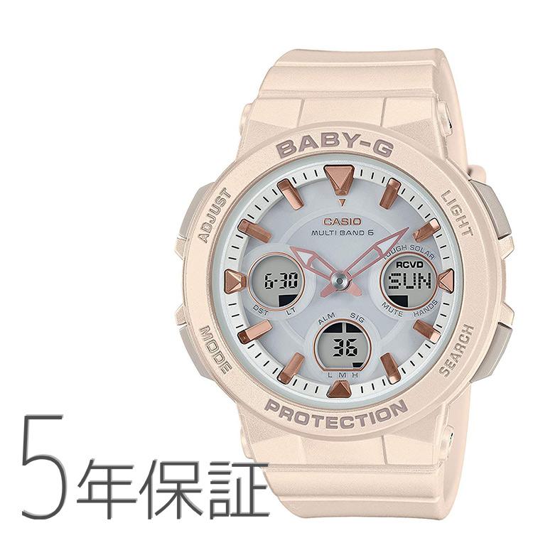 Baby-G ベビーG BGA-2510-4AJF カシオ CASIO アナログ ベージュ アースカラー ピンクゴールド 腕時計 レディース