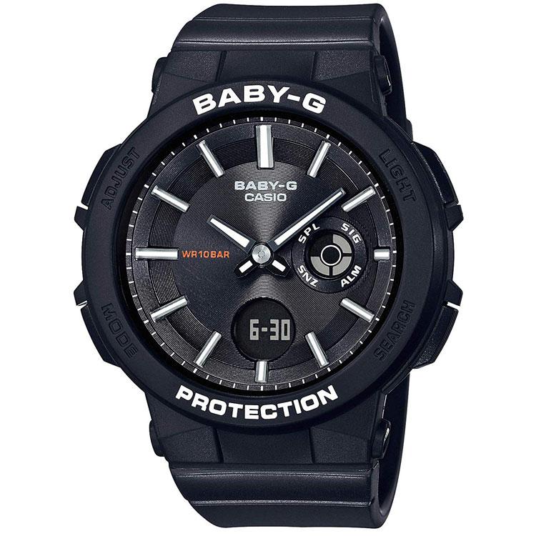 CASIO カシオ BABY-G ベビーG ワンダラー・シリーズ 黒 腕時計 レディース BGA-255-1AJF