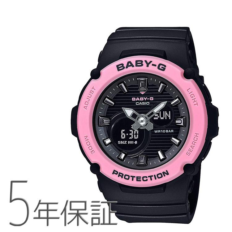 Baby-G ベビーG BGA-270-1AJF カシオ CASIO スポーティ ブラック ビビッドピンク 黒 海 腕時計 レディース