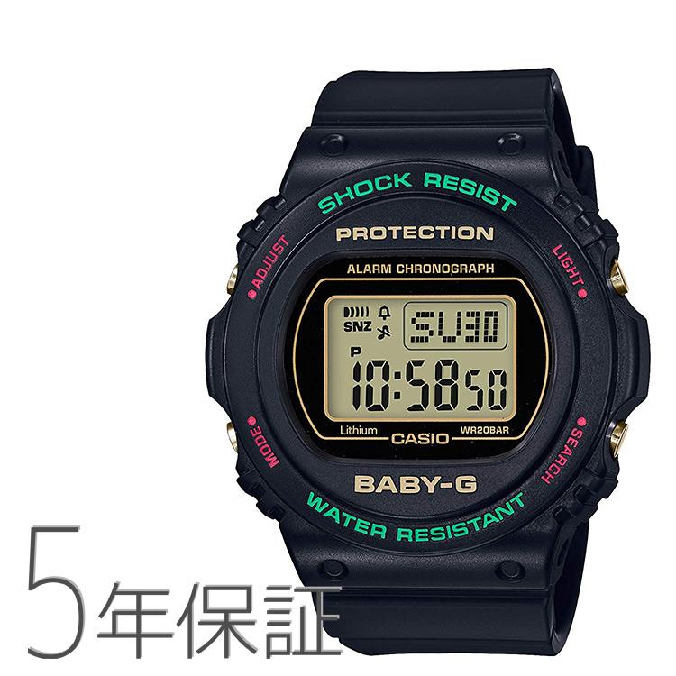 Baby-G ベビーG BGD-570TH-1JF カシオ CASIO ウインタープレミアム スローバック1990s デジタル 黒 ブラック 腕時計 レディース