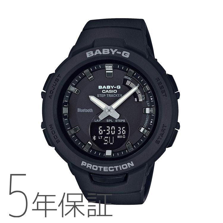 BABY-G baby-g ベビージー BSA-B100-1AJF カシオ CASIO G-SQUAD スマホ連携機能 モバイルリンク オールブラック レディース 腕時計