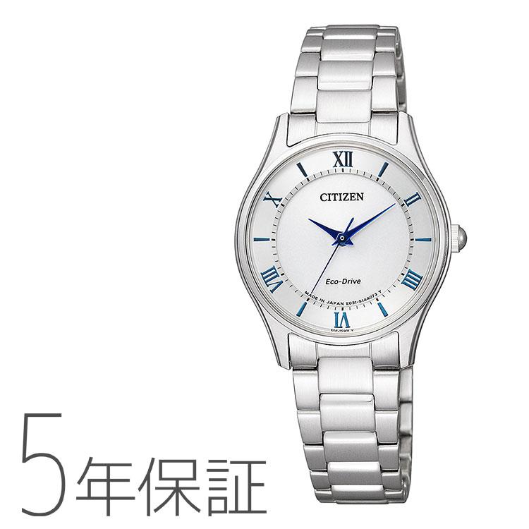 シチズンコレクション Citizen collection エコドライブ ペア レディース 腕時計 EM0400-51B