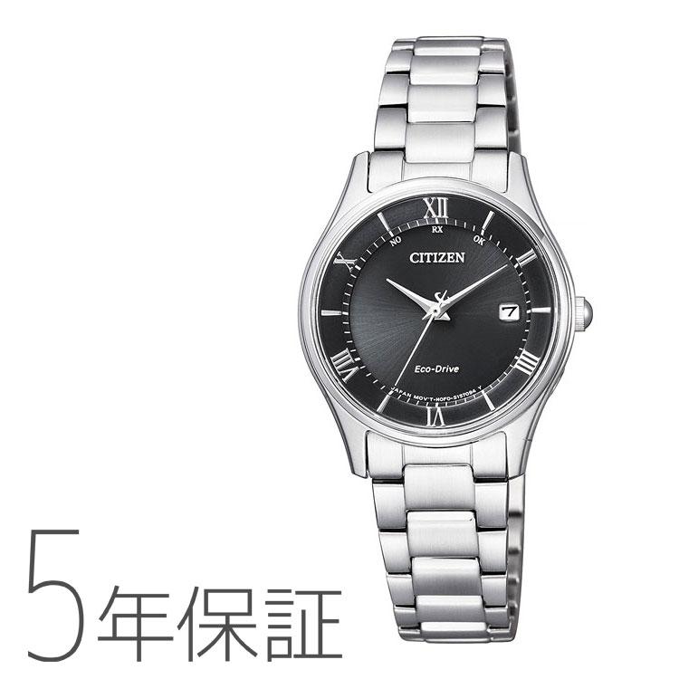 Citizen Collection シチズンコレクション ES0000-79E 国内電波時計 ステンレス 黒 ブラック レディース 腕時計