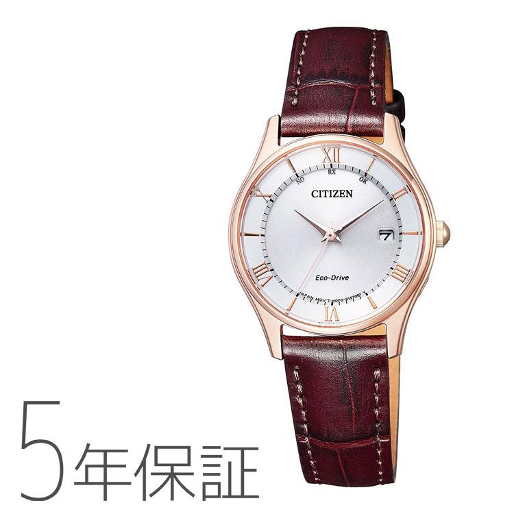 Citizen Collection シチズンコレクション ES0002-06A 国内電波時計 革バンド 茶色 ブラウン レディース 腕時計