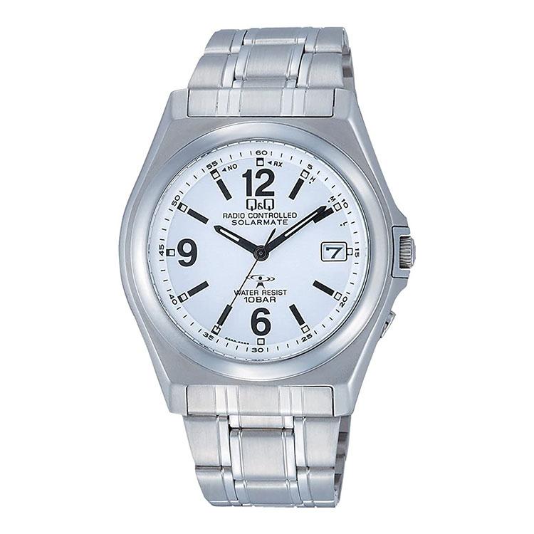 お得品 シチズン Q&Q 電波時計 アナログ SOLARMATE ソーラー電源 HG08-204 腕時計