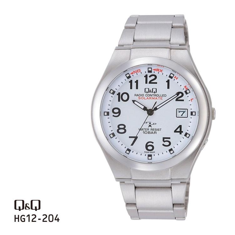 シチズン Q&Q アナログ電波時計 ペアモデル メンズ HG12-204 チプシチ 腕時計 お取り寄せ