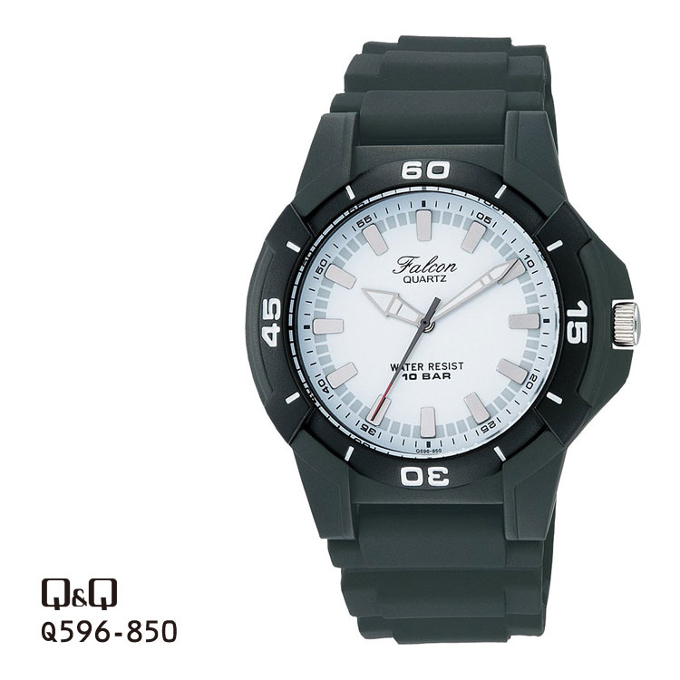 Citizen Q&Q falcon Falcon analog 10 standard atmosphere waterproofing watch men Q596-850 チプシチ