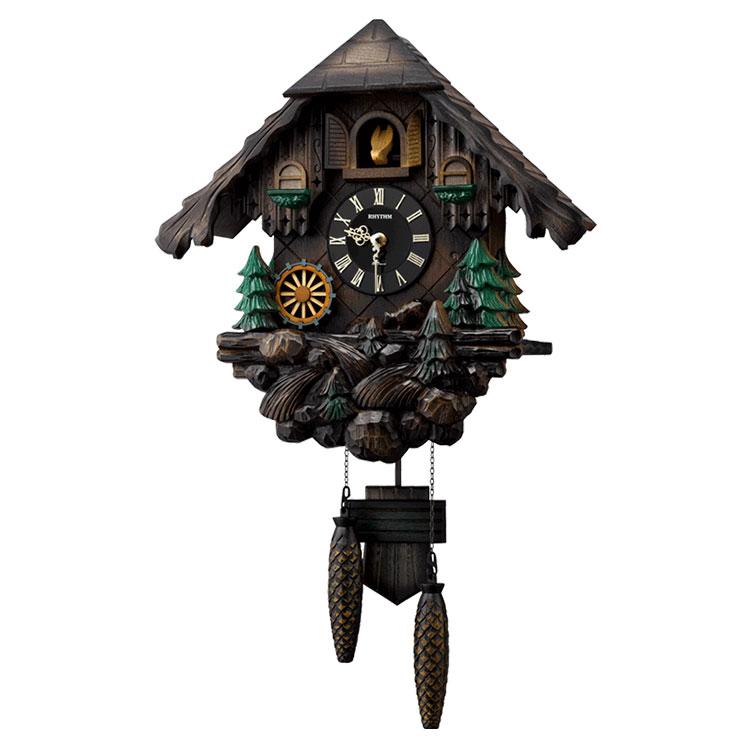 リズム時計 掛け時計 掛時計 カッコー時計 日本製 カッコーヴァルト 4MJ422SR06 クロック