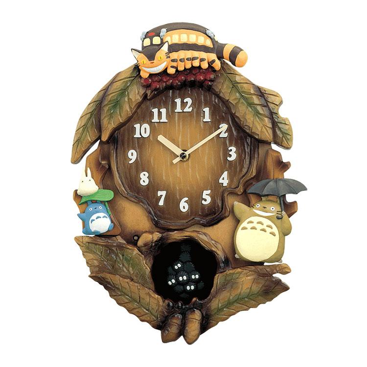 リズム時計 となりのトトロ 掛け時計 掛時計 キャラクター 4MJ837MN06 トトロM837N クロック CLOCK