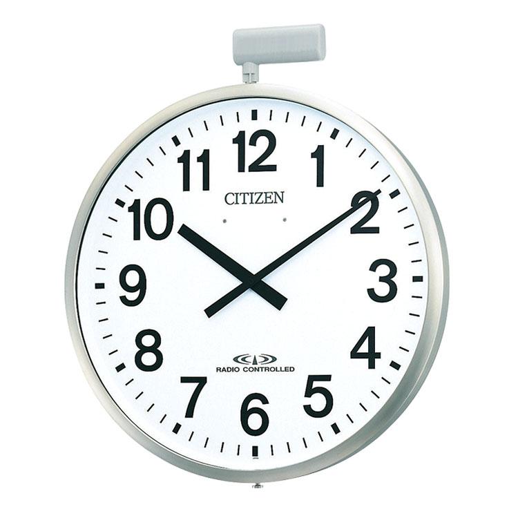リズム RHYTHM 屋外用電波掛時計(ポール時計) ポールウェーブSF 4MY611-N19 クロック CLOCK 取り寄せ
