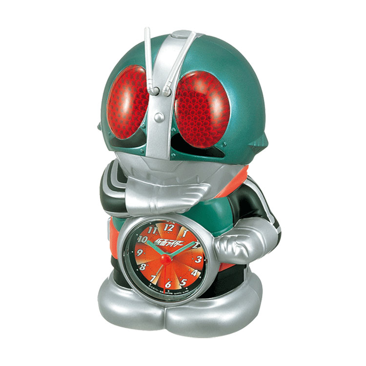 Rhythm clock clock alarm clock alarm clock 4SE502RH05 Kamen Rider character clock