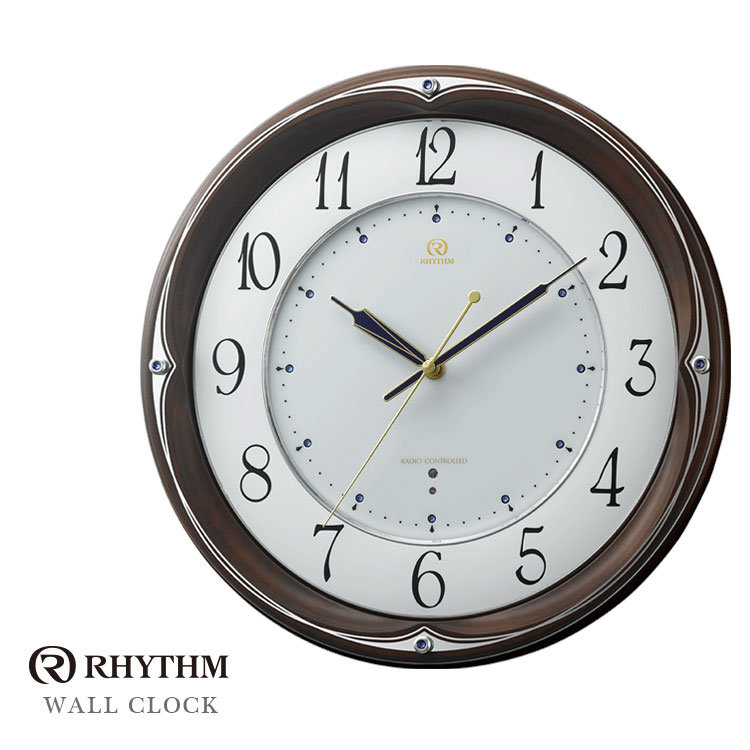 リズム時計 電波掛時計 電波時計 掛時計 RHG-M106 8MY459HG06 お取り寄せ