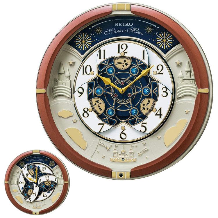 セイコー SEIKO からくり電波時計 30周年記念モデル お城 ブラウン 茶色 メロディ内臓 からくり時計 電波時計 掛け時計 RE601B 取り寄せ