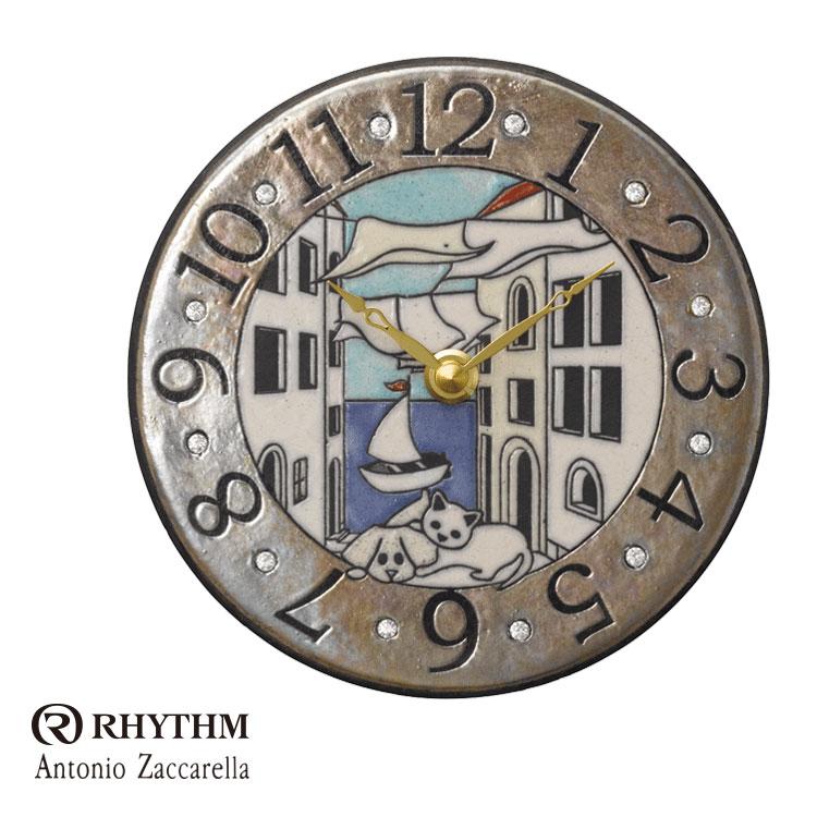 リズム時計 掛時計 置き時計 掛け置き兼用 Zaccarella ザッカレラ Z904 ZC904-004 お取り寄せ
