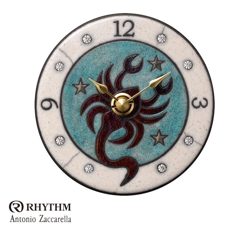 リズム時計 掛時計 置き時計 掛置兼用 12星座シリーズ さそり座 Zaccarella ザッカレラ Z933 ZC933-004 お取り寄せ