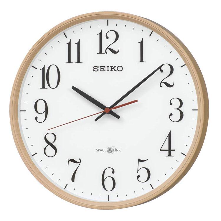 セイコー SEIKO 掛け時計 衛星電波時計 木目調 ナチュラル 北欧風 GP220A インテリア時計 お取り寄せ