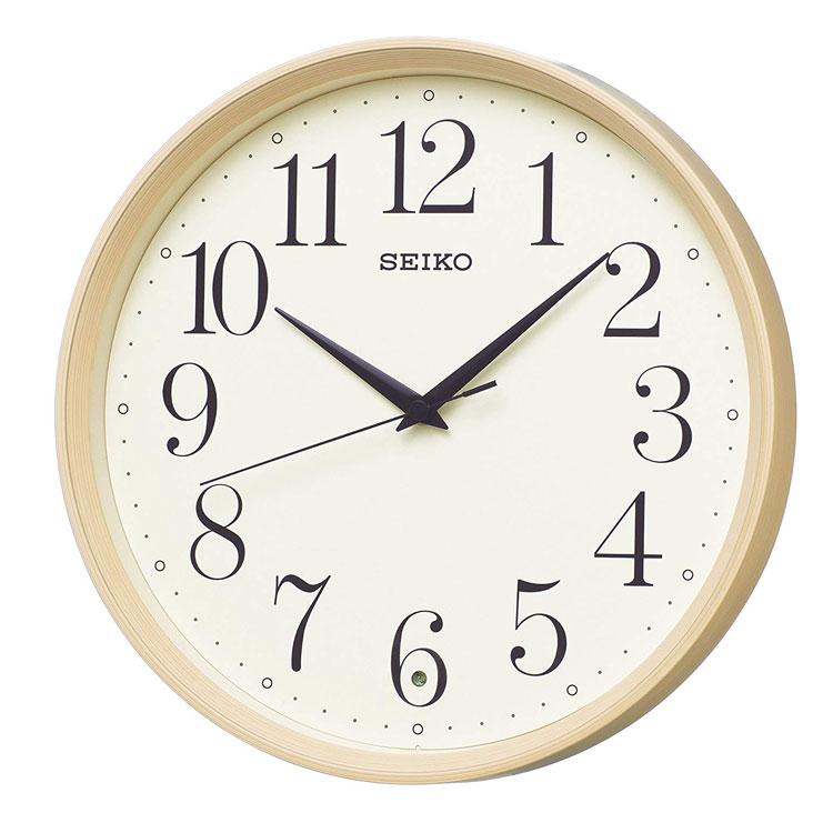 セイコー SEIKO 掛け時計 電波時計 シンプル 木目調 おしゃれ ナチュラル KX222A インテリア時計 お取り寄せ