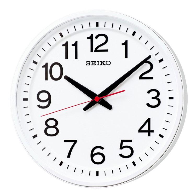 セイコー SEIKO 掛け時計 クオーツ シンプル 見やすい 白 ホワイト KX623W インテリア時計 お取り寄せ