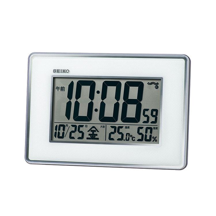 セイコー SEIKO 掛け置き兼用 電波時計 置き掛け兼用 温度・湿度表示 デジタル SQ443S インテリア時計 お取り寄せ