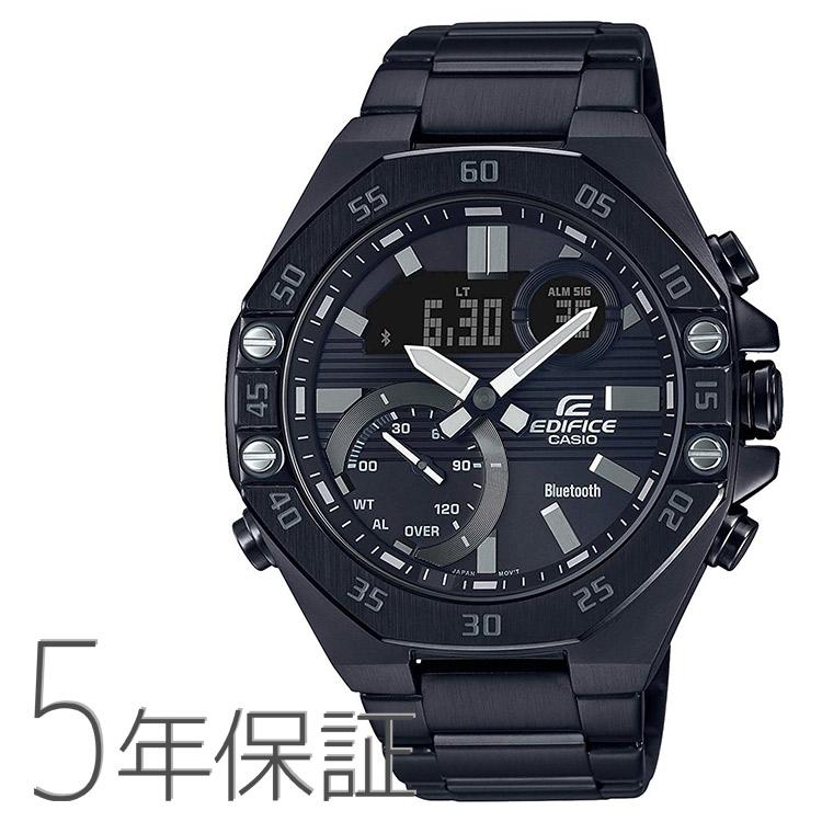 エディフィス EDIFICE ECB-10YDC-1AJF カシオ CASIO スマホ連携 クロノグラフ 八角形 黒 ブラック モノトーン 腕時計