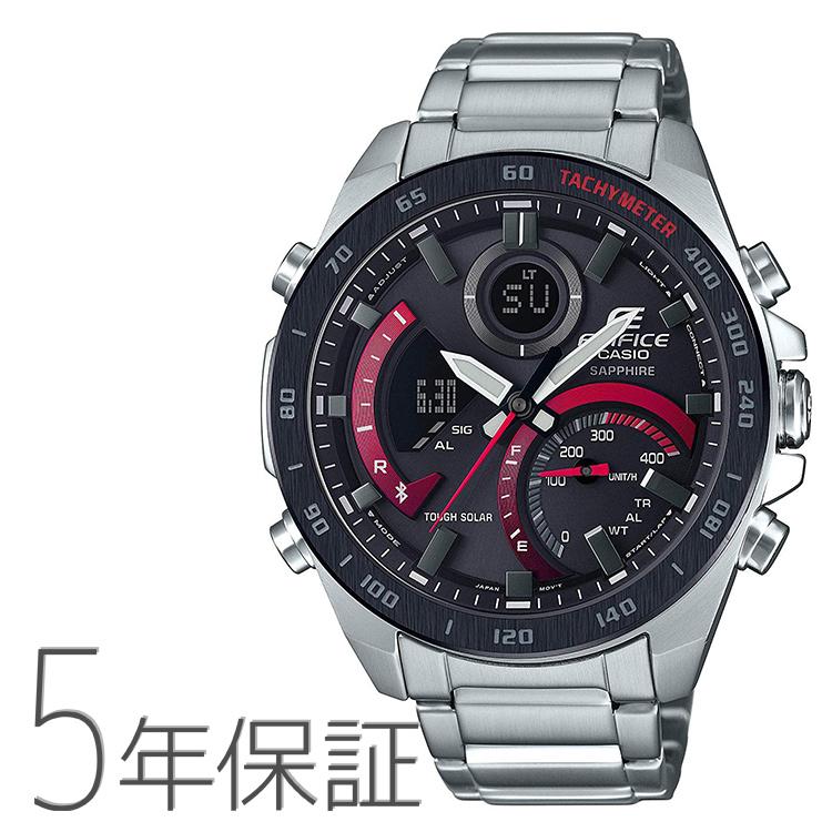 エディフィス EDIFICE edifice ECB-900YDB-1AJF カシオ CASIO スマホ連携 タキメーター 赤 レッド メンズ 腕時計