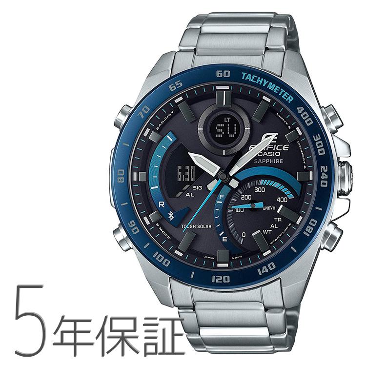エディフィス EDIFICE edifice ECB-900YDB-1BJF カシオ CASIO スマホ連携 タキメーター 青 ブルー メンズ 腕時計