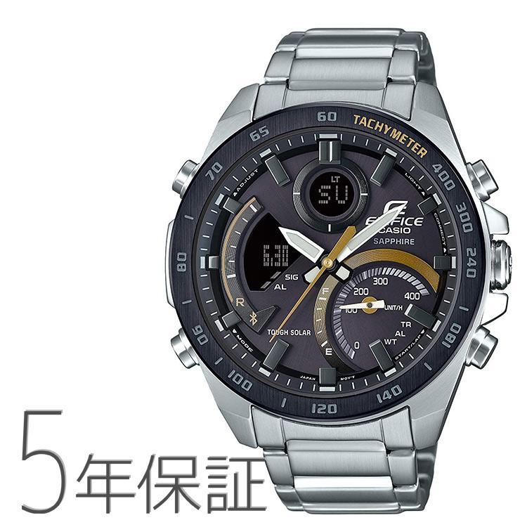 エディフィス EDIFICE ECB-900YDB-1CJF カシオ CASIO スマホリンク デジアナコンビ アナデジ タキメーター タフソーラー 腕時計 メンズ