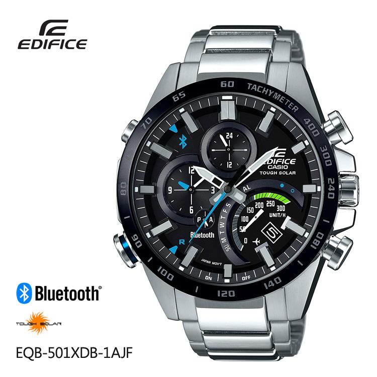 Five years guarantee エディフィス EDIFICE EQB-501XDB-1AJF Casio CASIO smartphone  link men watch