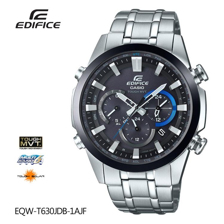カシオ CASIO EDIFICE エディフィス 電波ソーラー 電波時計 EQW-T630JDB-1AJF 腕時計 メンズ