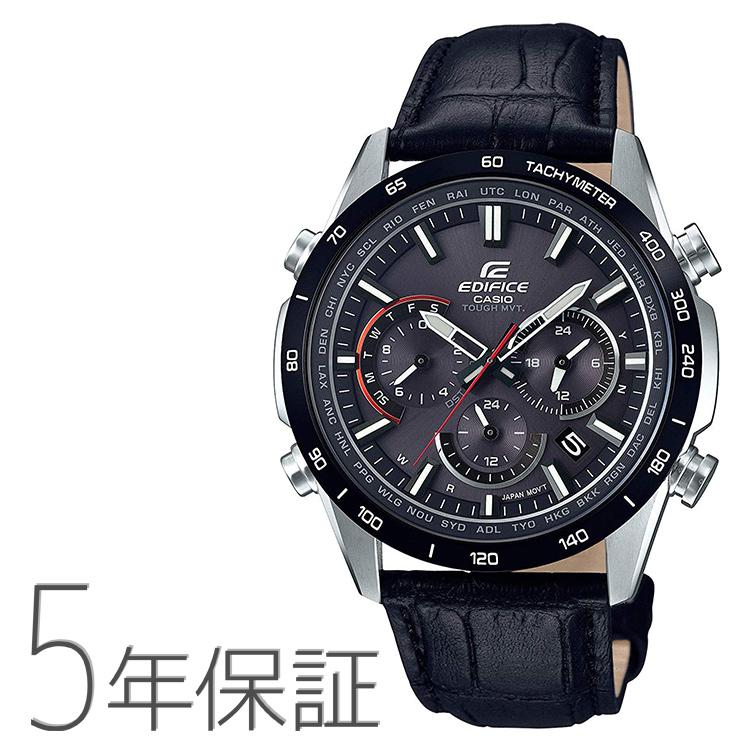 エディフィス EDIFICE edifice EQW-T650BL-1AJF カシオ CASIO 電波ソーラー 本革バンド クロノグラフ メンズ 腕時計