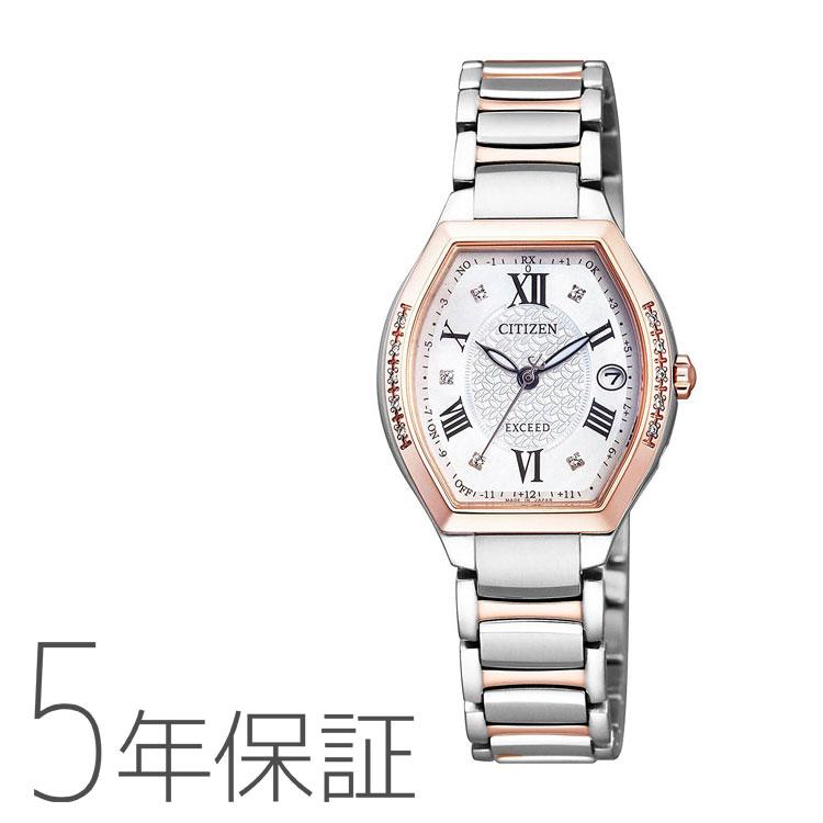 エクシード EXCEED ES9384-50W シチズン CITIZEN ダイヤ入り チタンバンド トノー型 樽型 腕時計 レディース お取り寄せ