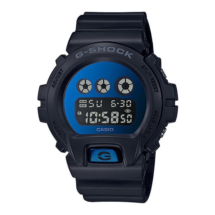 G-SHOCK g-shock Gショック DW-6900MMA-2JF カシオ CASIO ミラーダイアル 黒 ブラック 青 ブルー メンズ 腕時計