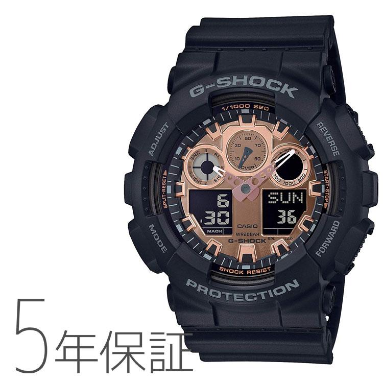 G-SHOCK G-ショック カシオ CASIO ブラック×ローズゴールド 腕時計 メンズ GA-100MMC-1AJF
