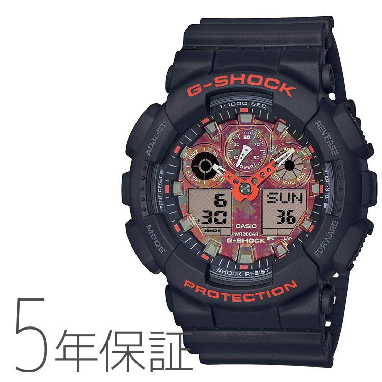 G-SHOCK カシオ CASIO Kyo Momiji Color デジタル メンズ 腕時計 GA-100TAL-1AJR