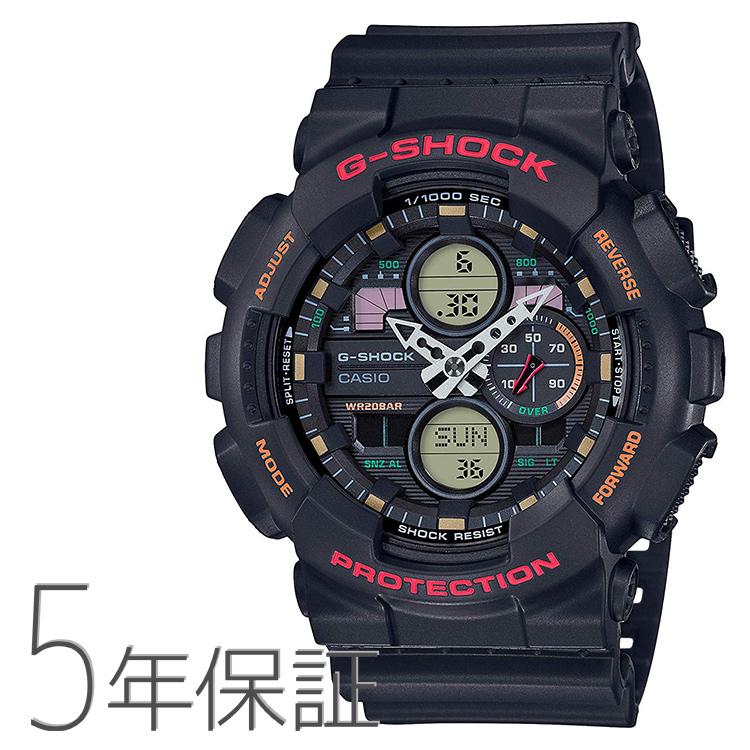 G-SHOCK Gショック GA-140-1A4JF カシオ CASIO ビッグケース レトロ 黒 ブラック 腕時計 メンズ