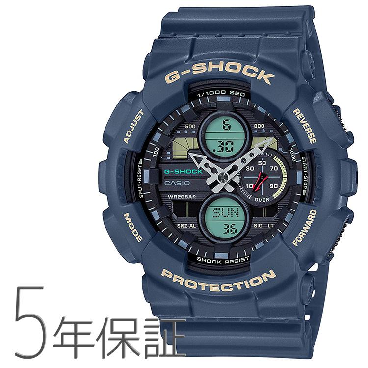G-SHOCK Gショック GA-140-2AJF カシオ CASIO ビッグケース レトロ ネイビー 紺色 腕時計 メンズ