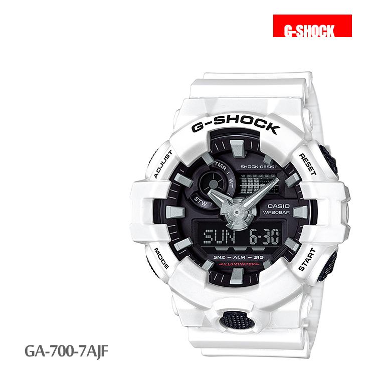 カシオ CASIO G-SHOCK Gショック デジタル アナログ メンズ 腕時計 白 GA-700-7AJF
