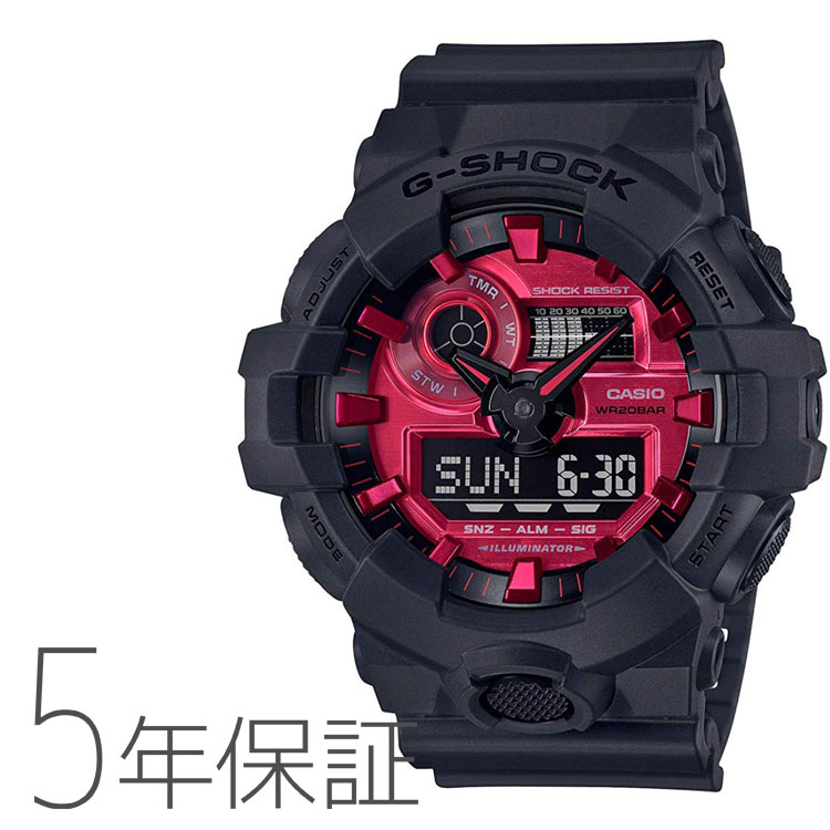 G-SHOCK カシオ CASIO Black and Red Series メンズ 腕時計 GA-700AR-1AJF