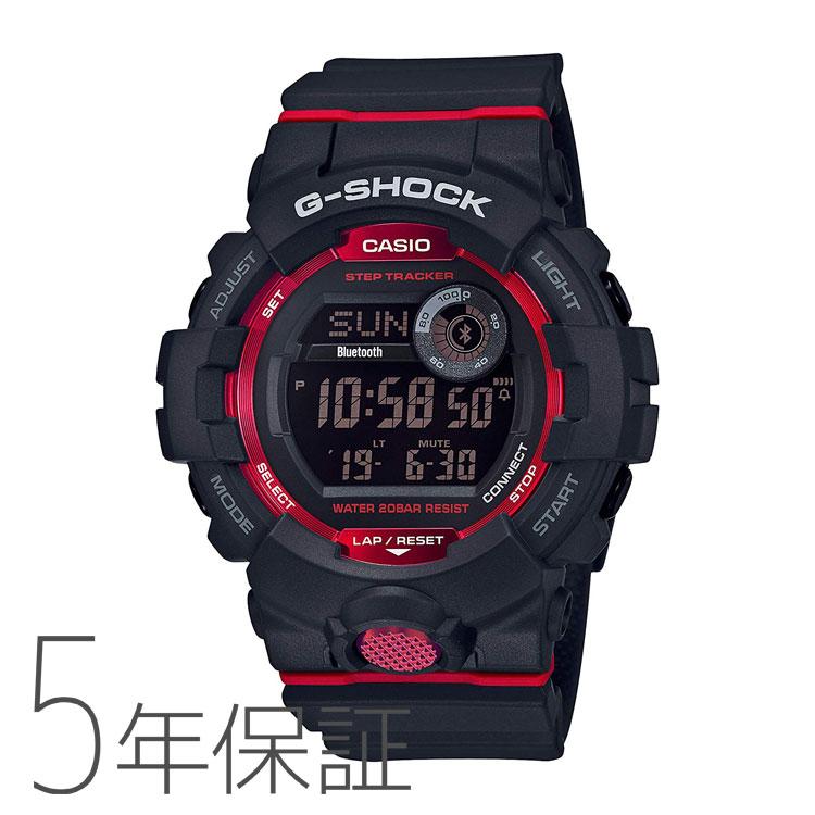 G-SHOCK g-shock Gショック GBD-800-1JF カシオ CASIO G-SQUAD スマホ連携機能 モバイルリンク ブラック レッド メンズ 腕時計