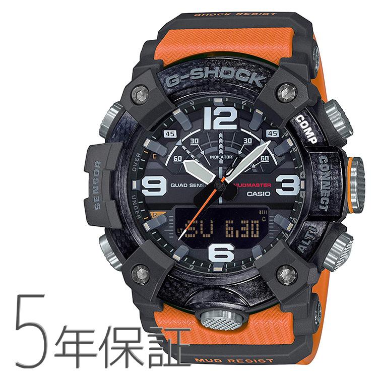 G-SHOCK Gショック GG-B100-1A9JF カシオ CASIO マスターオブG マッドマスター スマホ連携 GPS オレンジ色 腕時計 メンズ
