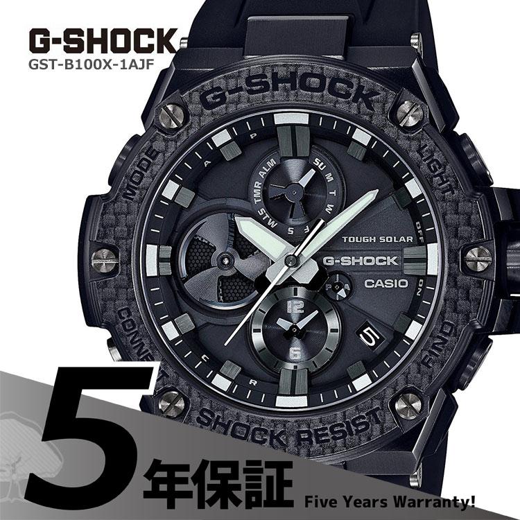 G-SHOCK g-shock Gショック GST-B100X-1AJF カシオ CASIO G-STEEL Gスチール スマートフォンリンク機能搭載 クロノグラフ 黒 ブラック メンズ 腕時計