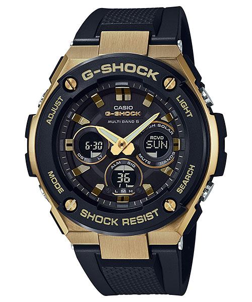 5年保证卡西欧CASIO G打击G-SHOCK电波太阳能G-STEEL人手表GST-W300G-1A9JF