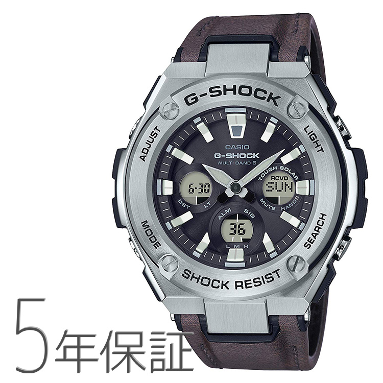 G-SHOCK g-shock Gショック GST-W330L-1AJF カシオ CASIO G-STEEL 電波ソーラー 革バンド レザー メンズ 腕時計