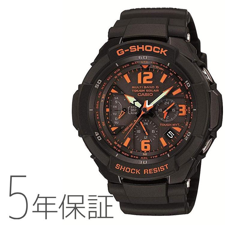 G-SHOCK スカイコックピット 電波 ソーラー ブラック GW-3000B-1AJF カシオ CASIO タフソーラー 腕時計 メンズ | Gショック ジーショック 黒 アナログ 電波腕時計 国内正規品
